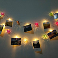 20 Led 3m Romantic Creative Lovely Picture Clip Wicker Balls Light String For Christmas Holiday Wedding Birthday Deco 1314