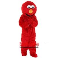 New Elmo Mascot Costume Long Fur Elmo Mascot Costume Elmo Cartoon Mascot Adult Size Free Shipping