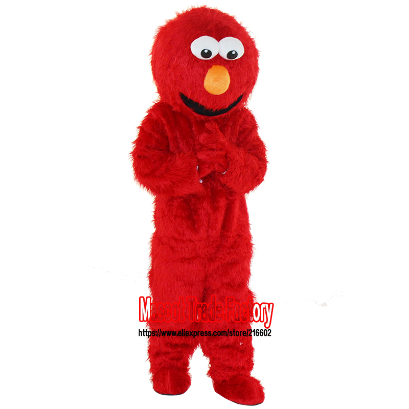 cosplay costumes elmo mascot costume Long fur elmo mascot costume elmo cartoon mascot adult size free shipping