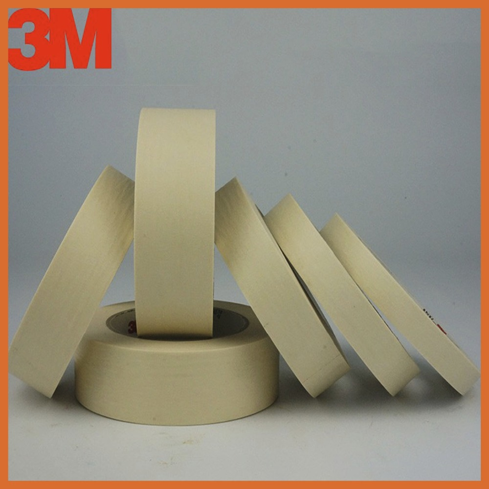 Ruban adhésif Crêpe Papier Décoratif Masque De Voiture Écran De Pulvérisation Adhésif Joint Ruban Adhésif pour l'industrie électronique 60mmx164ft 3M2214