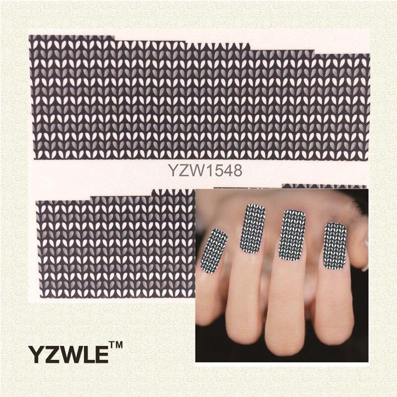 Ywk 1pcs Nail Art Water Sticker Nails Beauty Wraps Foil Polish