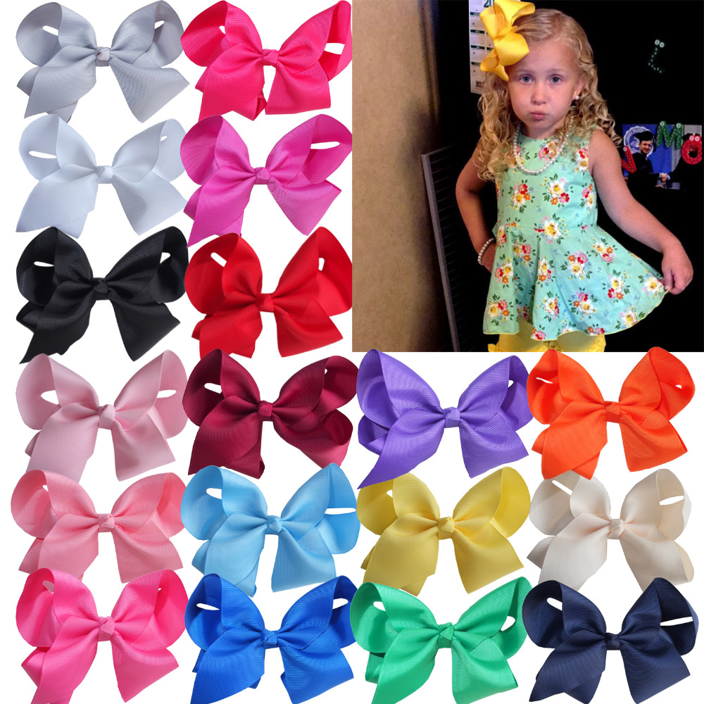 Wholesale 6 inch Large Hair bow Kids Girls Boutique Hairbows Hair clips Barrettes Hairgrips Hairpin Big