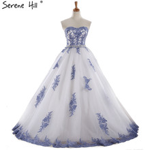 2017 Sleeveless Sexy Tulle Wedding Dresses Robe De Mariee Embroidery Crystal Fashion Princess Bridal Dresses Real Photo