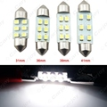 1pc Super White 31mm/36mm/39mm/41mm 1210/3528 6SMD Car Auto Festoon Dome LED Light Bulbs  #CA4742