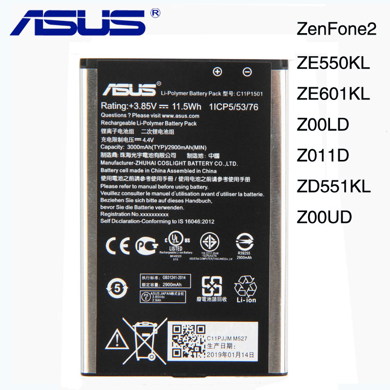 Original ASUS C11P1501 Battery For ASUS ZenFone2 Laser 5.5