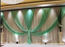 20ft*10ft Wedding backdrop New Design Wedding Backdrop  Stage Curtain Tiffany color