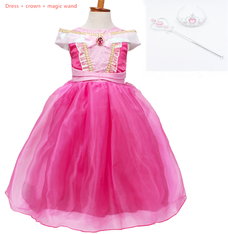 2019 new girls princess dress Ai Luo sleep beauty stage costumes fluffy