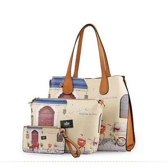 ФОТО 2015 fresh women messenger bags new women leather handbag fashion shoulder bags hot crossbody bag tote printing women handbag