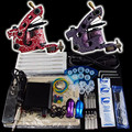 Solong Tattoo 2 Kit Pistola Pro Ametralladora Del Tatuaje de Potencia Foot Pedal Supply Apretón de Las Agujas Consejo K21