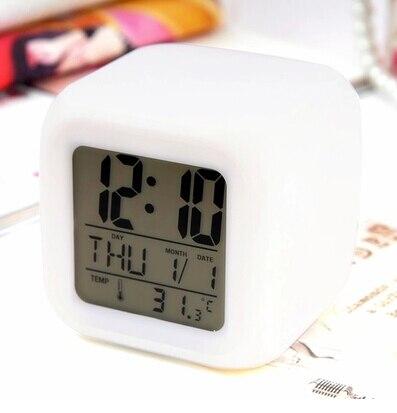 2pcs LED Color despertador Colour Digital Alarm Clock Multifunction Music LED Colour Changing Digital Alarm Clock For Children