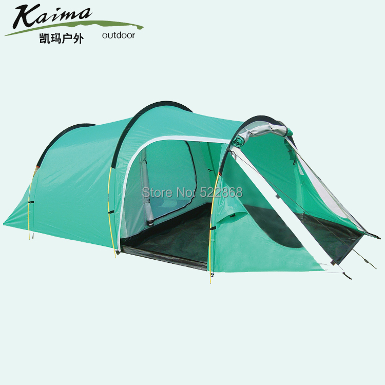 Kema outdoor family outdoor camping tent double Bedroom multiplayer party tent Specials high quality outdoor 2 person camping tent double layer aluminum rod ultralight tent with snow skirt oneroad windsnow 2 plus
