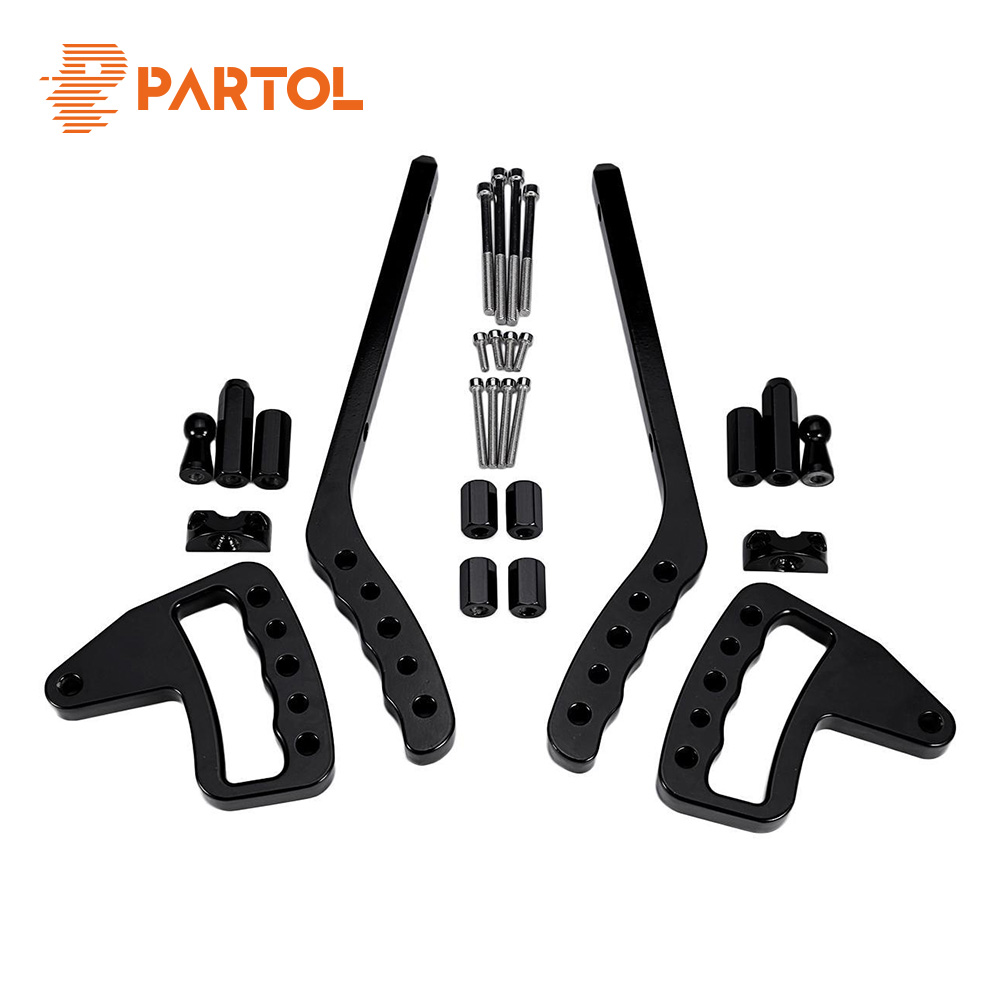 Partol Door Grab Bar Front & Rear Hard Mount Wild Boar Grab Handle Accessories For Jeep Wrangler JK Rubicon Sahara 4 Door Modle