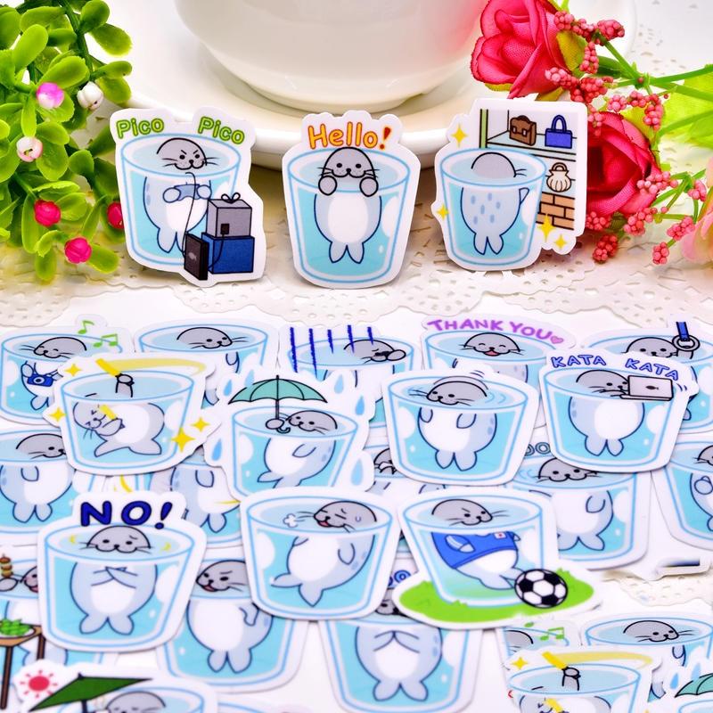 40 قطع الإبداعية kawaii لطيف الجليد دلو قليلا البطريق سكرابوكينغ ملصقات/ملصق ديكور/DIY كرافت ألبومات الصور/ الأطفال