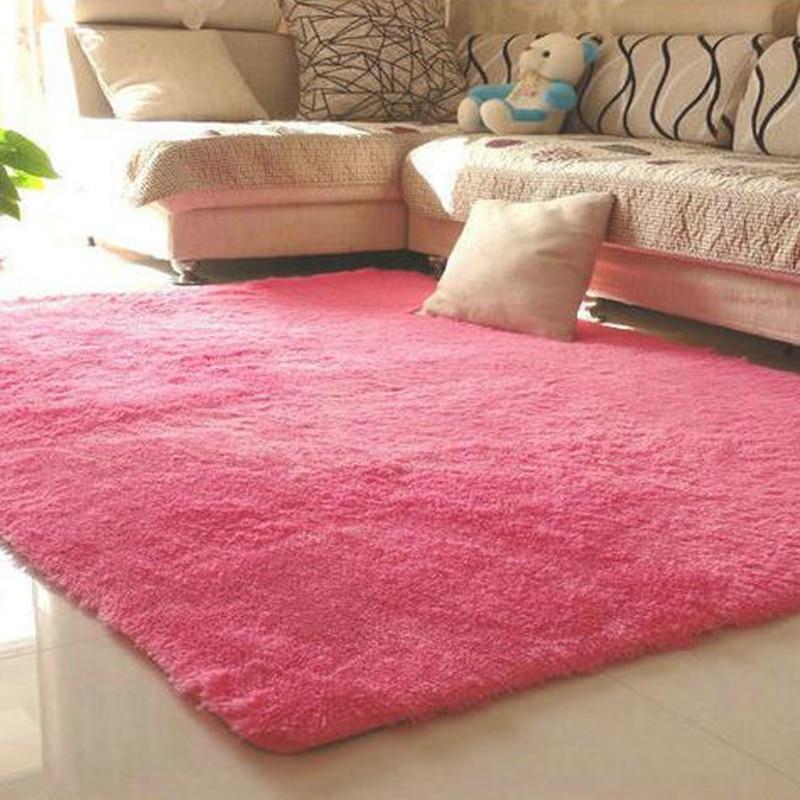 1Pc 80x120cm Bohemia Models Silky Carpet Mats Sofa Bedroom Living ...