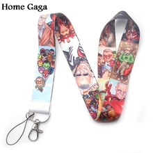 Homegaga cute  keychain lanyard webbing ribbon neck strap fabric badge phone holder necklace accessory D1686