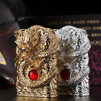Free Shipping Cigarette Accessories Big Arc Cigarette Lighters Dragon Float Carving High End USB Rechargeable Arc