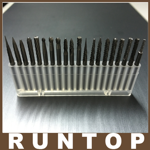 1SET 20pcs for CNC Engraver  3.175mm 1/8 Tungsten Carbide Cutter Rotary Burr Set1SET 20pcs for CNC Engraver  3.175mm 1/8 Tungsten Carbide Cutter Rotary Burr Set