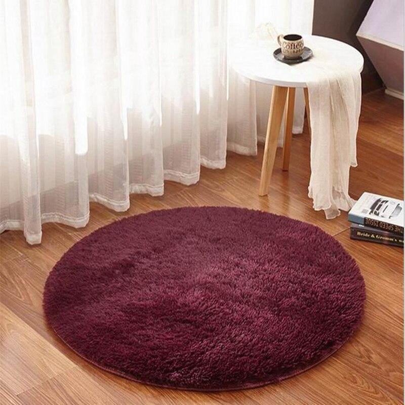 Tapis rond décor à la maison Textile moderne brève Table basse canapé suspendu panier grand tapis de sol paillasson chambre tapis