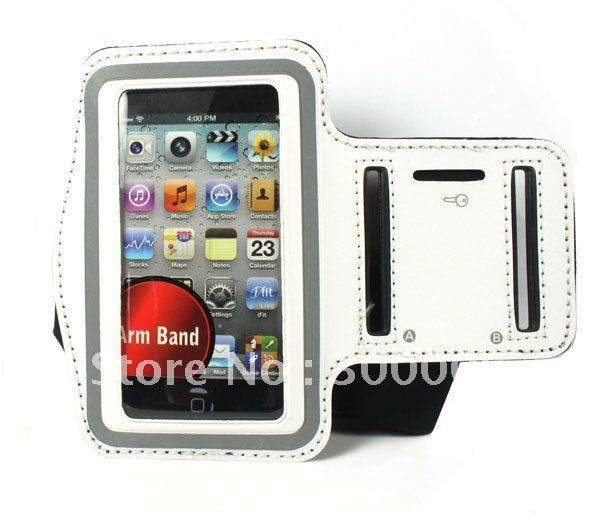 50pcs/lot Premium Sports Workout Gay Armband Case Cover For Apple iphone 4 4G 4S 3G 3GS