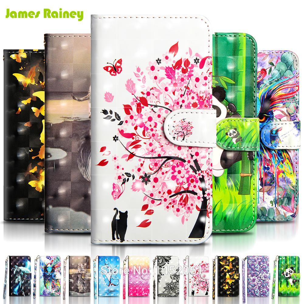Phone <font><b>Flip</b></font> Wallet Etui Coque Cover <font><b>Case</b></font> For Huawei <font><b>Honor</b></font> 7X 8X <font><b>9</b></font> 10 View Mate 10 <font><b>Lite</b></font> P9 <font><b>Lite</b></font> Mini with 3D Painted PU Leather image