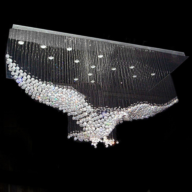 New Eagle Design Large Contemporary Chandeliers Crystal Lighting Re Hotel Lobby Light