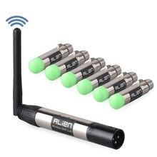 エイリアン DMX 512 Dfi DJ ディスコ 2.4 2.4ghz ワイヤレストランスミッタレシーバ 400 メートルコントローラパーティー音楽クラブ DMX LED ステージレーザーライト