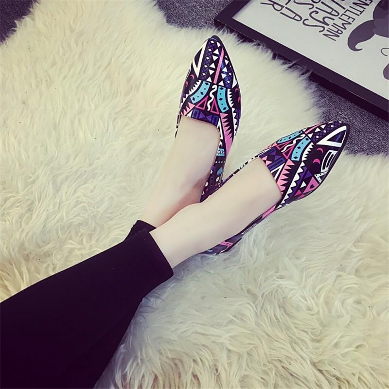 2016 Summer Fashion Hot Style Blue Patchwork shoe High Quality Casual Lazy shoe Women Flat shoe HSC14 (7)