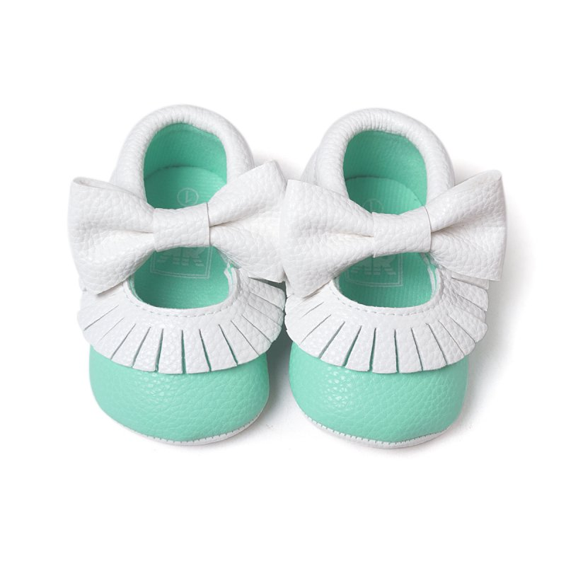 Tassel Baby Shoes Bowknot Soft PU Leather Toddler Shoes Infant First Walkers 0-18M