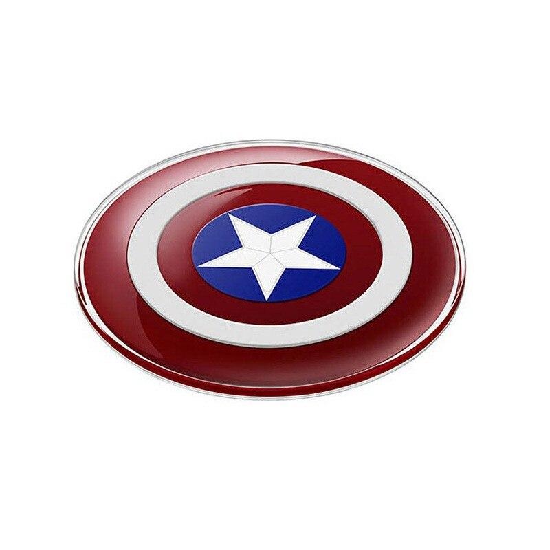 קפטן אמריקה צ ' י טעינה מהירה מטען אלחוטי Pad עבור סמסונג S6 S6 edge נקסוס Lumia Cargador המוביל Inalambrico