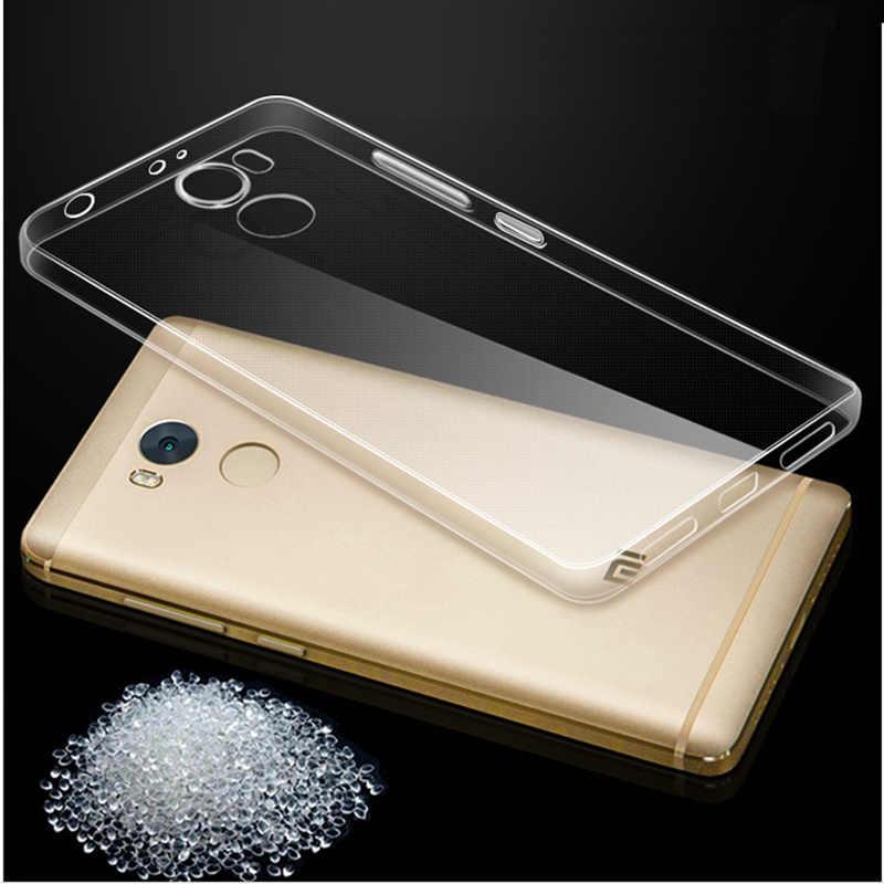 THREE-DIAO TPU caso para Xiaomi rojo mi 3 4 4A 4X4 5X5 5A Plus nota 2 3 4 4X4 5X5 5A Pro caso claro para Xiaomi mi 4i/4c 5 5S 6 6X8 8 SE