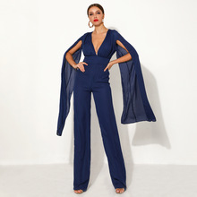 2 Colors Chiffon Jumpsuit Sexy Celebrity Fashion Night Club Party Women Elegant