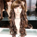DM690034>Nwave cosplay wig cheap brown mixed curly Kanekalon fiber hair WIG