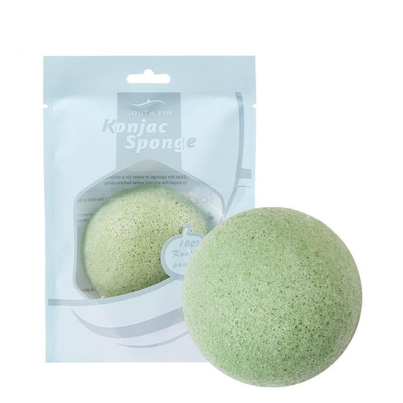 Hot Sale 7 Colors Natural Konjac Face Washing Sponge
