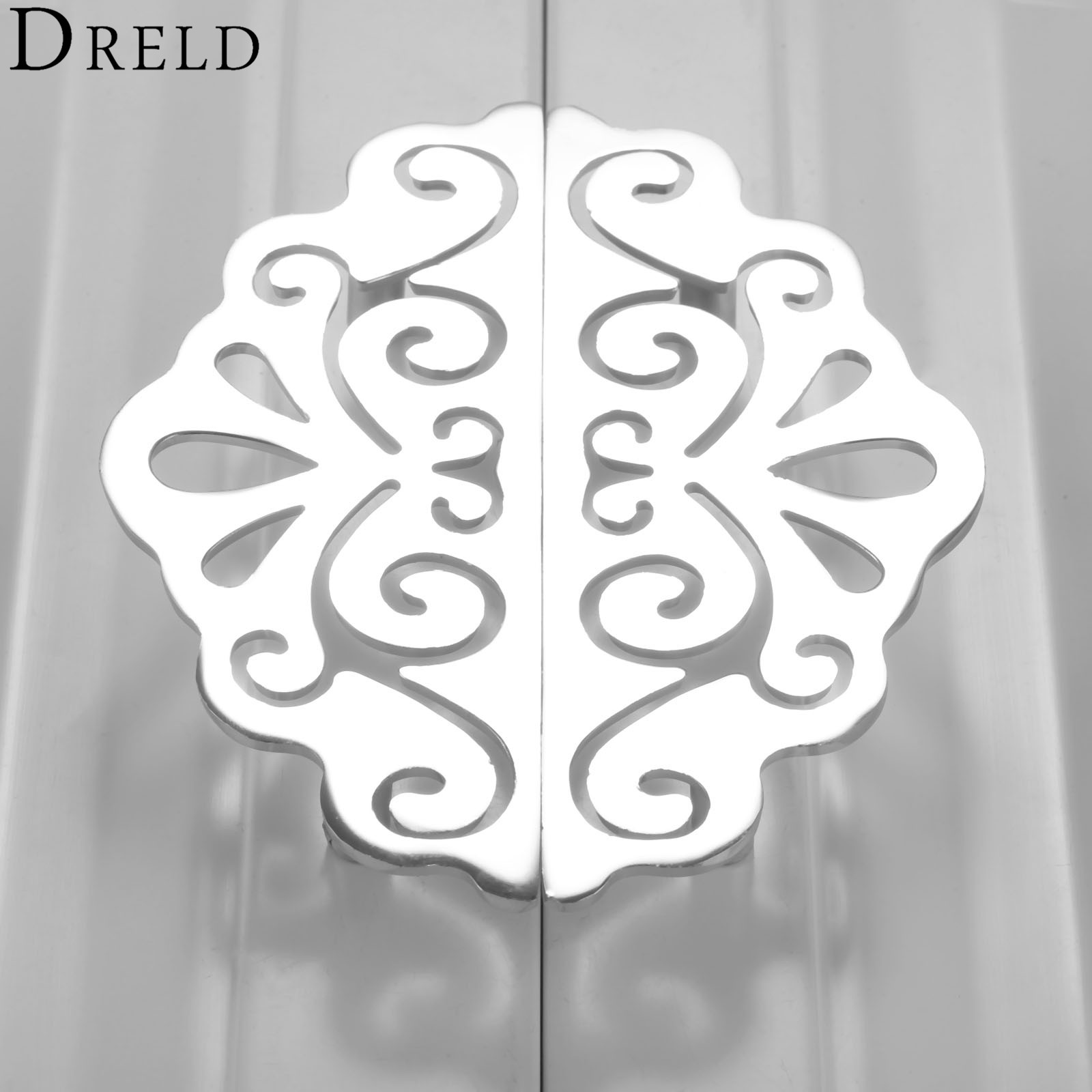 DRELD 2Pcs 96mm European-style Furniture Handle Cabinet Knobs and Handles Door Cupboard Kitchen Pull Handles Furniture Hardware furniture drawer handles wardrobe door handle and knobs cabinet kitchen hardware pull gold silver long hole spacing c c 96 224mm