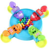 Multiplayer PK Desktop Game Small Novelty Gag Toy Feeding Small Frog Parent Child Interaction Small Frog Grabbing Beans 707 35