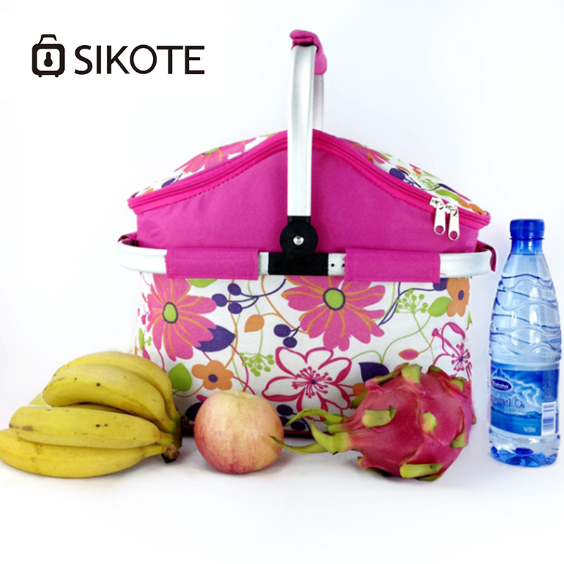SIKOTE 22L Oxford Luxury Lunch Bag For Women Kids Men Cooler Lunch Box Bags Handbag Waterproof Thermal Food Fruit Bags Package