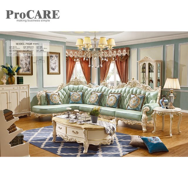 Royal Furniture French Style Drawing Room Classic Wooden Sofa Set