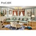 Royal Mobiliário Estilo Francês Drawing Room Designs Conjunto de Sofá De Madeira Clássico-932