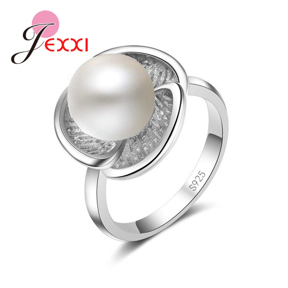 Fashion 925 Sterling Silver Simple Ring Flower Multicolor Round Big Beads Jewelry Marry Party Christmas Gifts