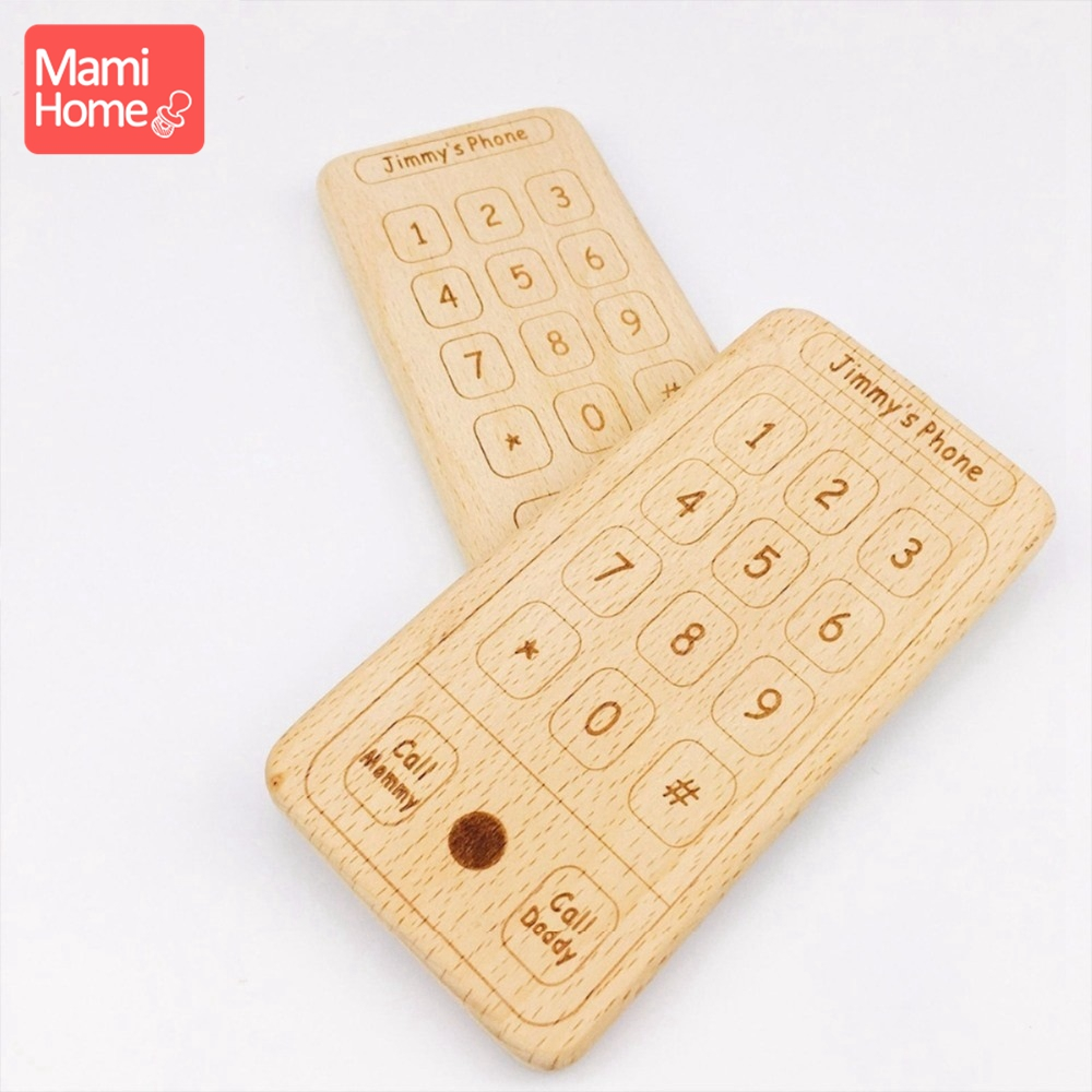 Punctual Mamihome 5pcs Wooden Mobile Phone Training Teeth Diy Accessories Bpa Free Food Grade Materials Teething Toys Gifts Baby Teething Lustrous Mother & Kids Baby Teethers