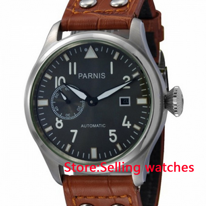 47mm Parnis Gray Dial Automatic Men47mm Parnis Gray Dial Automatic Men