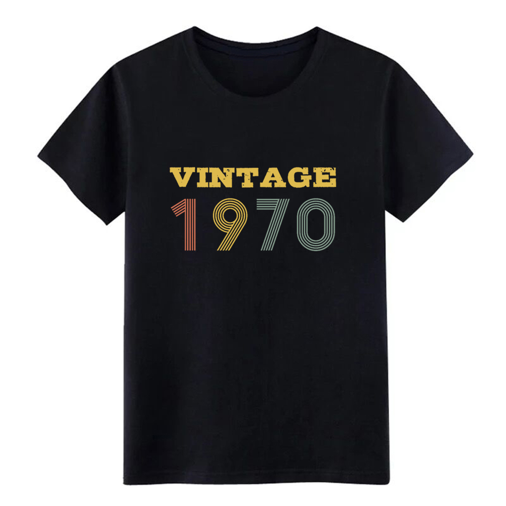 Men's <font><b>Vintage</b></font> <font><b>1970</b></font> t shirt Printing tee shirt plus size 3xl clothing Loose Building Summer Style Outfit shirt image