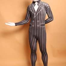 5898cb9c9fd (LP20158182) Black And White Gentleman Lycra Spandex Zentai Suit Halloween  Costume(China)
