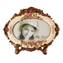 Creative Korean pastoral rose photo frame resin can be wall mounted