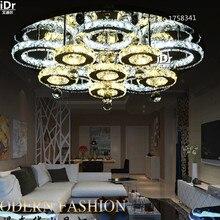 Новое прибытие современные светодиодные потолочные светильники для гостиной Dia800xH150mm, кристаллический светильник с дистанционным управлением Высококлассная атмосфера