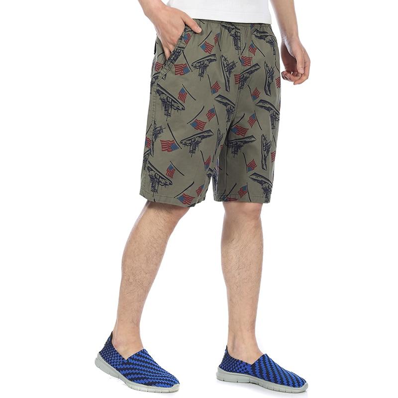 Man Summer Board Shorts Army Green Boardshort Men Elastic Waist Beach Short Men Camouflage Color Boardshorts Plaid Shorts Male