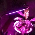 Гибкая USB Clip-on LED Завод Растет Светильник для Растений Овощами Гидропоники Системы Расти/Блум + адаптер 2 Цвет