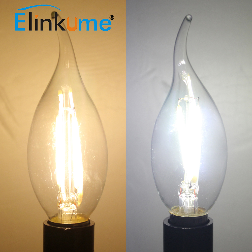 Elinkume E27 E14 Led Lampen 2 Watt 4 Watt 6 Watt 220 V Led Filament