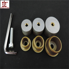 Free shippng 3pcs(sets) Golden Color Plumber tool Thick welding parts, PPR pipe butt welding die head, 20/25/32mm Welding Mold
