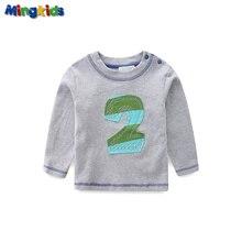 Mingkids Little Baby Boys Kids Top Cotton long sleeve Export Europe